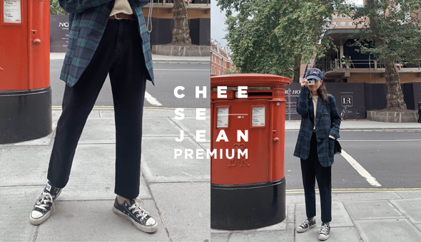 Cheese Premium Jean (ver.릴렉스배기핏/블랙진)[size:S,M,L,XL/ 1color]