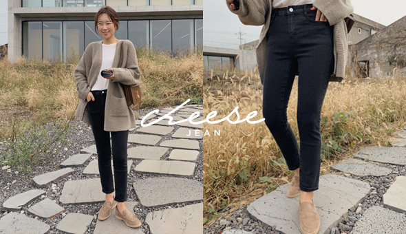 Cheese jean (ver.흑청슬림일자)[size:S,M,L,XL/ 1color]